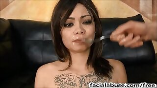 Asian slattern Leilani Vega throated & degraded